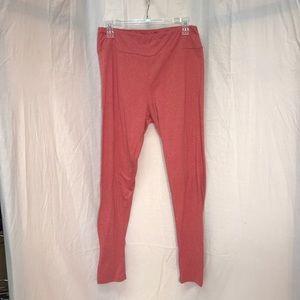 Women's red marbled leggings